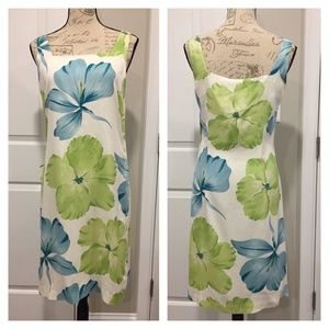 Tommy Bahama Petal Pusher Square Neck Dress 2 Silk